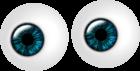 twee ogen blauw